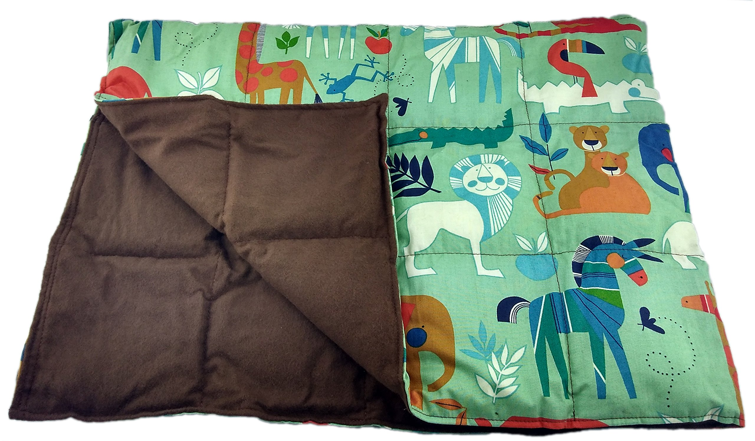 Grampa's Garden 10 LB Weighted Blanket - Zoo Animals - Premium Weighted Washable Body Blanket