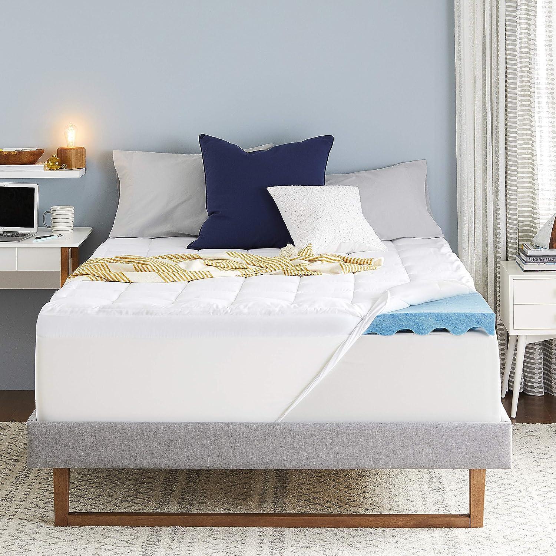 Amazon.com: Sleep Innovations 4 inch Dual Layer Gel Memory Foam