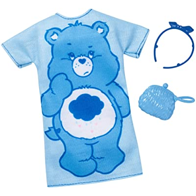 Barbie Care Bear Blue Oversized Dress Fashion Pack: Toys & Games