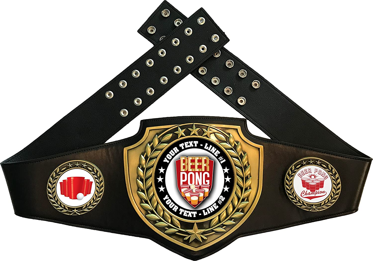 Express Medals Beer Pong Trophy Champion Belt Award Customizable