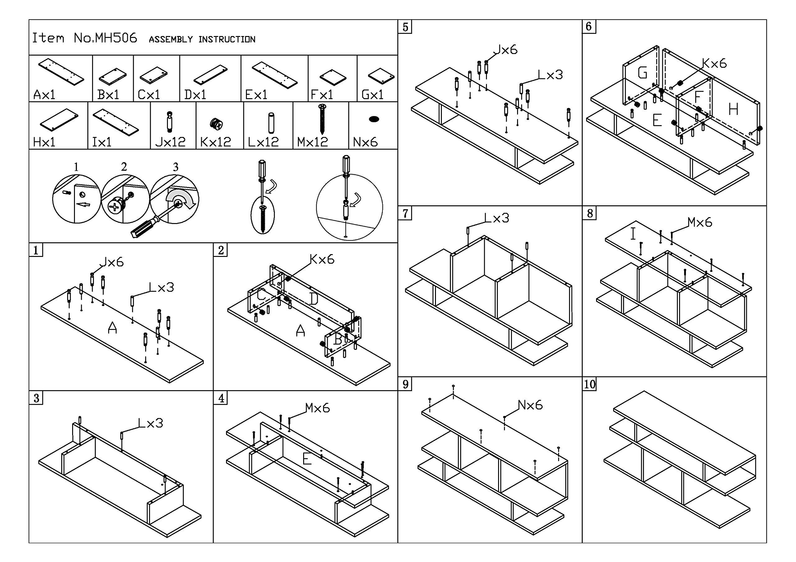 Frenchi Home Furnishing Wood/Console Sofa Table, Black by Frenchi Home Furnishing (Image #2)