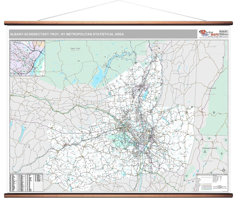 Albany New York Zip Code Map.Amazon Com Marketmaps 2018 Albany Schenectady Troy Ny Metro Area