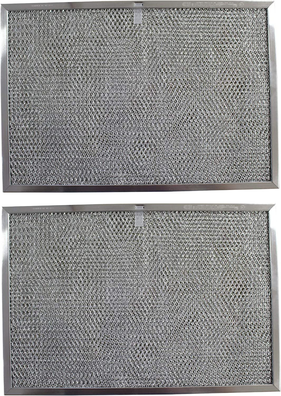 PT SS GE WB2X9761,GC-7510,RHP1102-11-7//16 X 17 X 3//8 Replacement Aluminum Filters Compatible with GE WB20X9761 GE WB2X2892 2-Pack