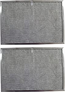 Replacement Aluminum Filters Compatible with GE WB20X9761, GE WB2X2892, GE WB2X9761,GC-7510,RHP1102-11-7/16 X 17 X 3/8 (PT SS) (2-Pack)