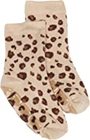Country Kids Slipper Leopard Animal Print Socks