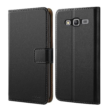 HOOMIL Grand Prime Hülle, Handyhülle Samsung Galaxy Grand Prime Tasche Leder Flip Case Brieftasche Etui Schutzhülle für Samsu