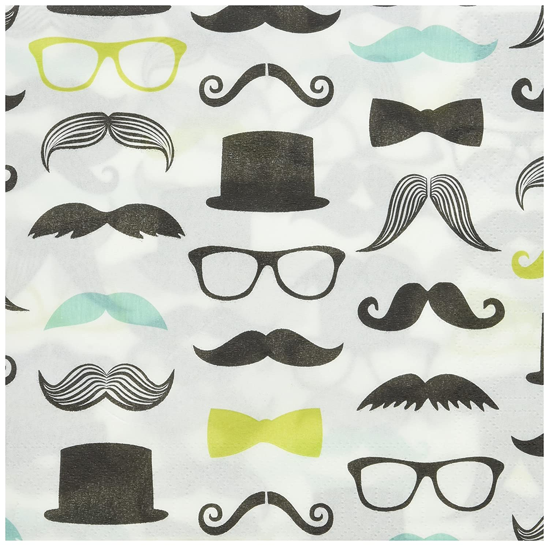20 Birthday Express AX-AY-ABHI-59060 Lunch Napkins BirthdayExpress Mustache Man Party Supplies