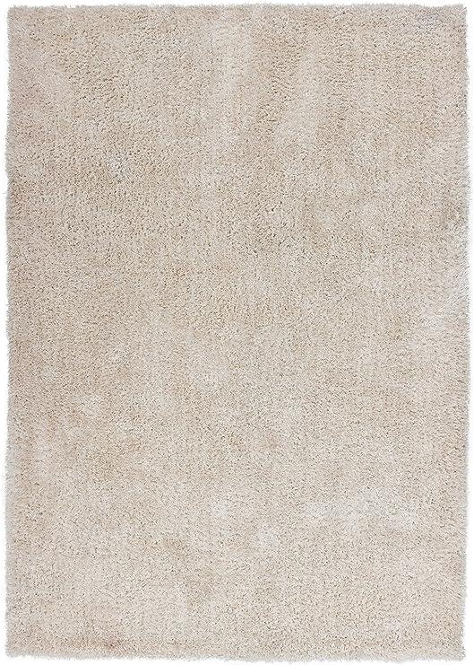 Alfombra handgetuftet suave micro poliéster Shaggy Hochflor algodón espalda marfil Ivory tamaño elegir, poliéster, beige, 200 x 290 cm: Amazon.es: Hogar