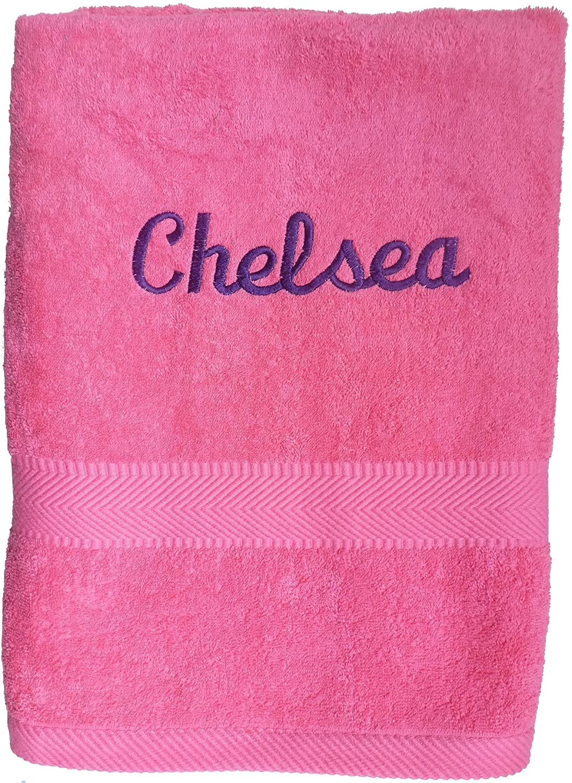 Custom Embroidered Bath Sheet, Pool and Beach Towel