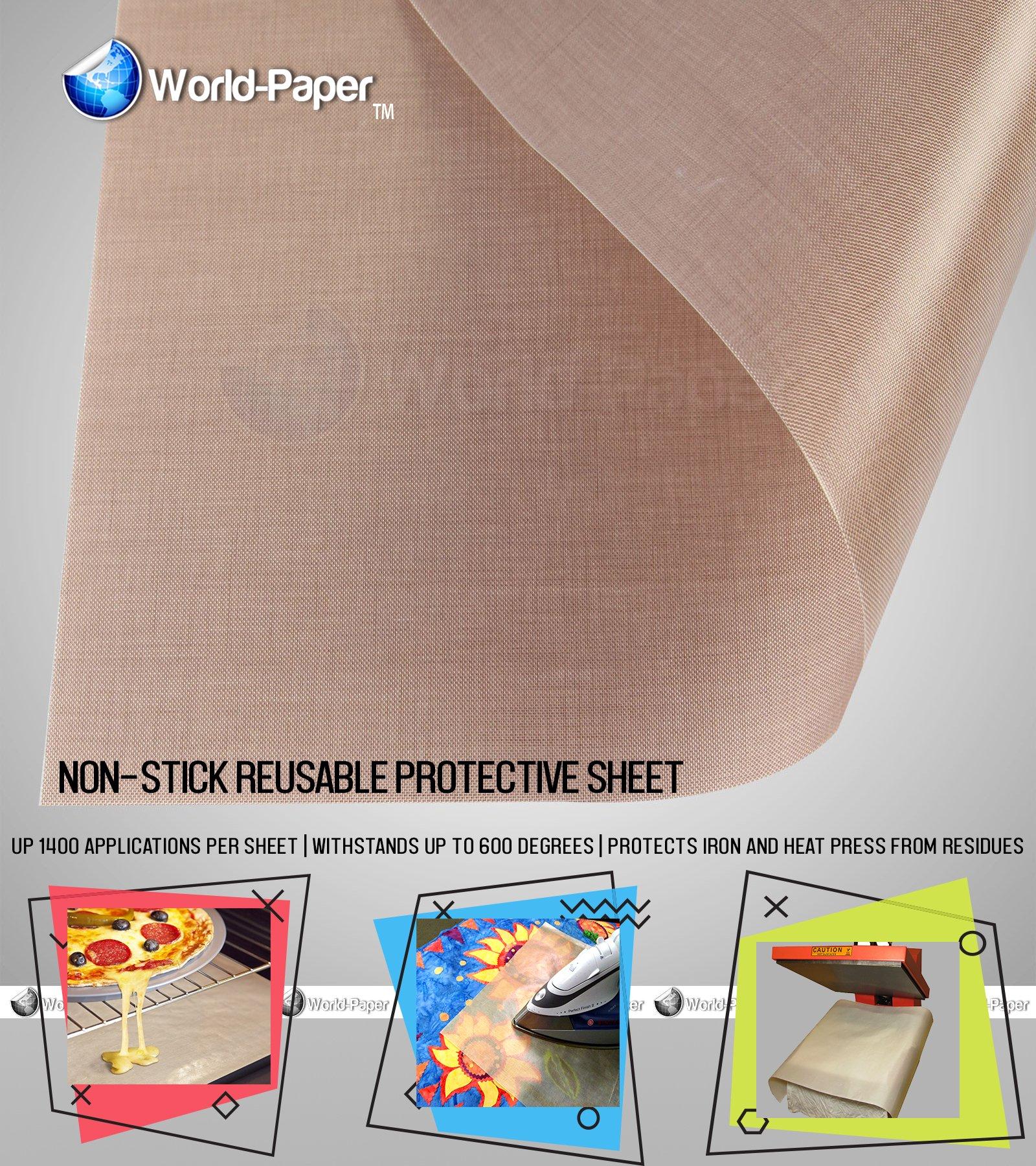Teflon Sheet For 16'' x 20'' Heat Press Transfer (Pack - 10 Sheets)