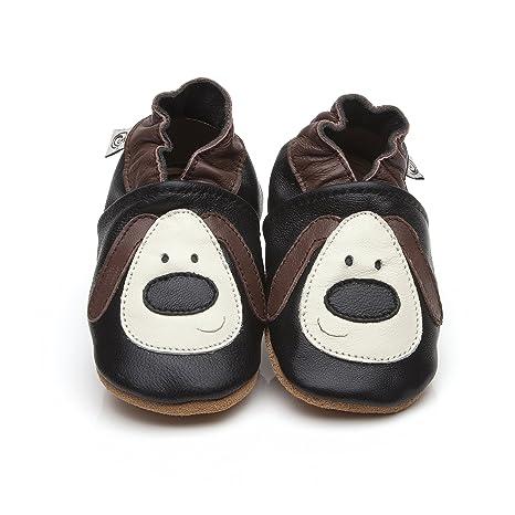 Suaves Zapatos De Cuero Del Bebé Perro 12-18 meses