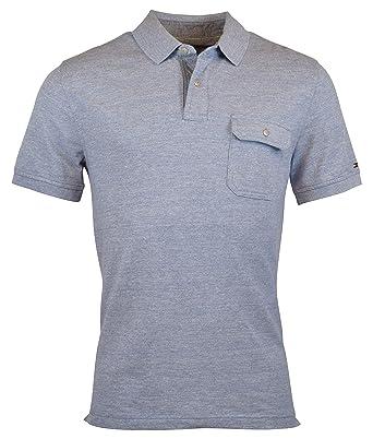 5c9b3476d Tommy Hilfiger Mens Custom Fit Pocket Polo Shirt - M - WSH Blue Indigo