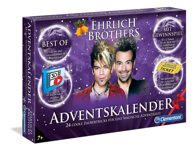 Clementoni 59084 Ehrlich Brothers Adventskalender der Magie Clementoni-59084-Ehrlich Brothers Adventskalender der Magie, Mehrfarben