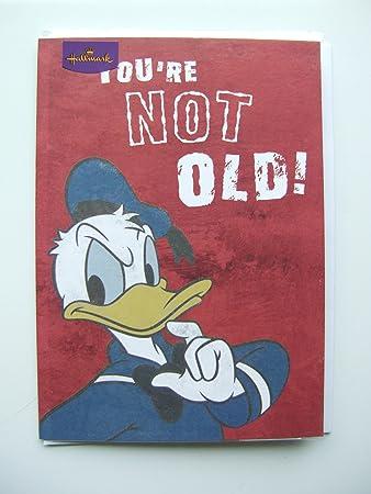 Donald duck Geburtstagskarte für jedes Alter von Stempel: Amazon