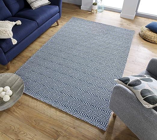 Flair Rugs Simplicity Cotone Pappel - Alfombra (algodón, 192 x 290 cm), color azul: Amazon.es: Hogar
