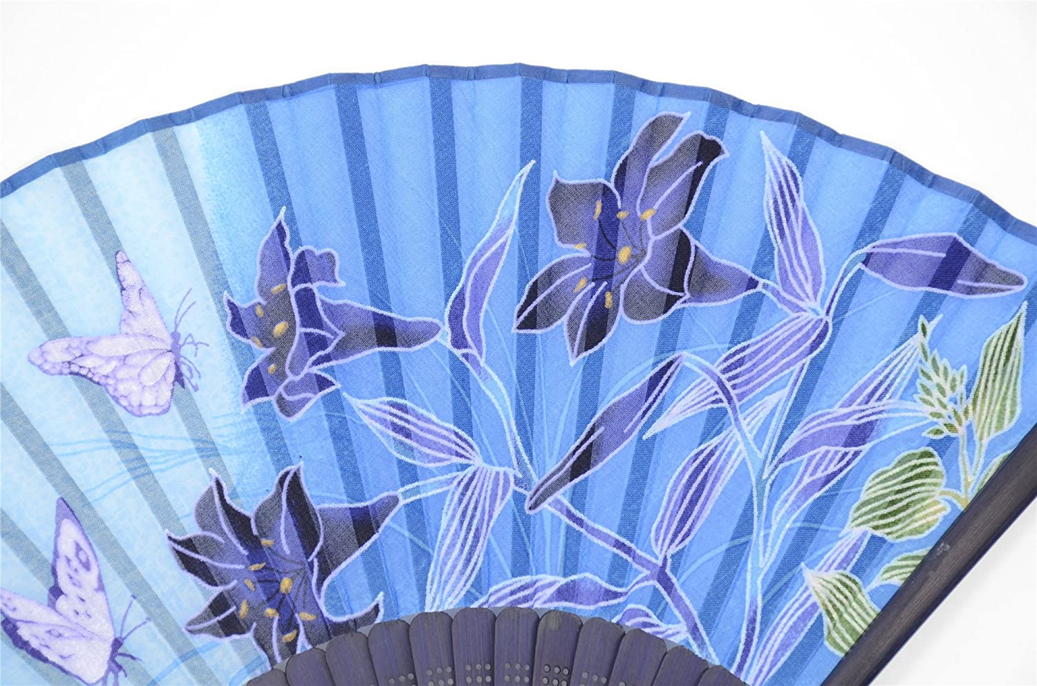 For Women Ladys Girls Fan-Laba-WZS-10 WZS-10 With a Fabric Sleeve for Protection for Gifts OMyTea Hand Held Silk Folding Fans with Bamboo Frame 100/% Handmade Oriental Chinese // Japanese Vintage Retro Style