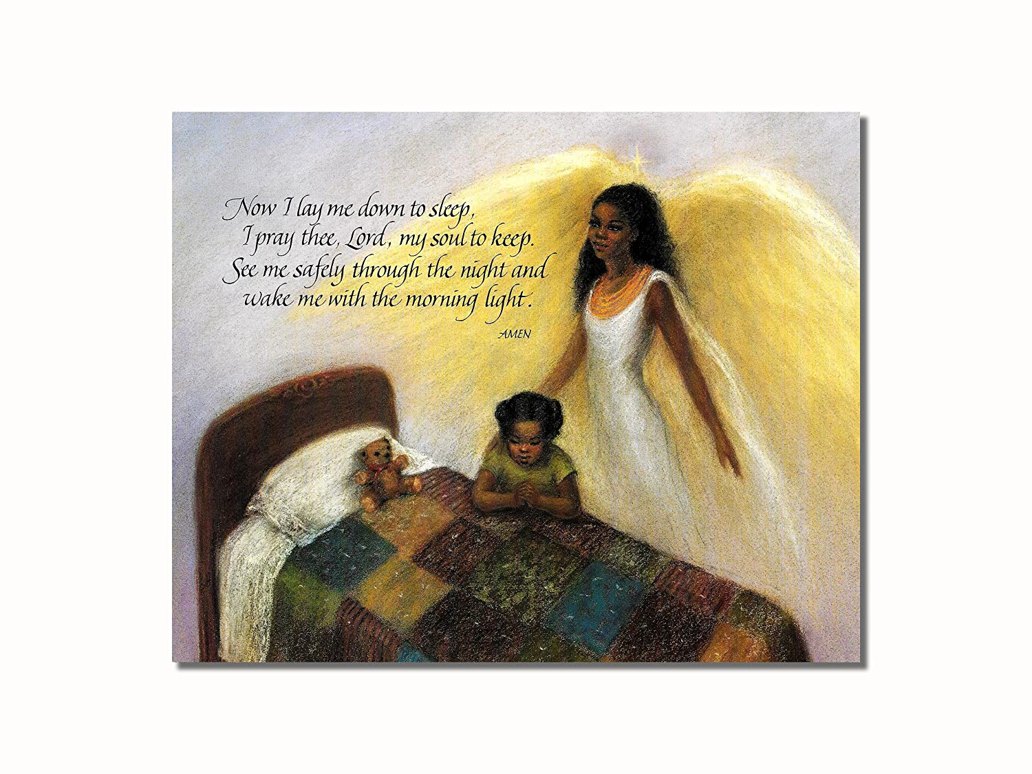 Amazon.com: Guardian Angel With Children On Bridge African American ...