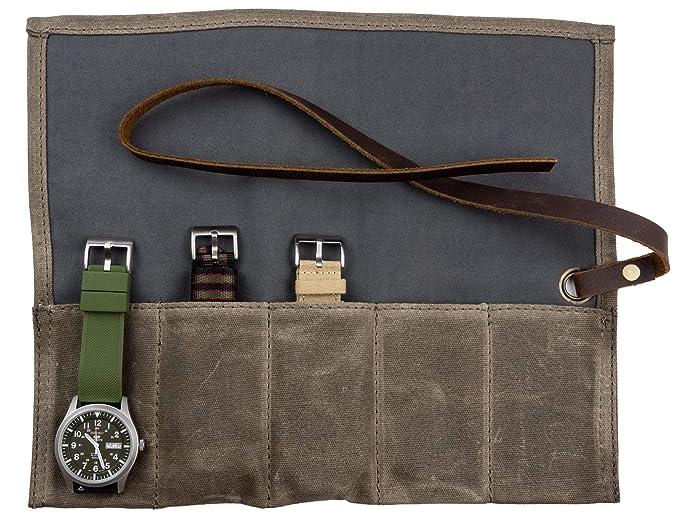 Amazon.com: Barton reloj rollo – encerado lona reloj funda ...
