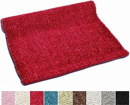 Vanity Alfombra lavable en algodón brillante, para cocina y baño, antideslizante, en diferentes colores, lavable a máquina a 30°, alta calidad, (50x80, Rojo): Amazon.es: Hogar
