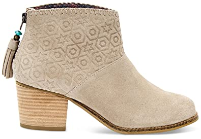 bf9bec7ccf4 TOMS Women s Leila Bootie Oxford Tan Suede Embossed 5.5 ...