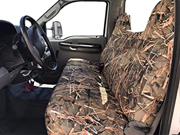 Amazon Com Realseatcovers For Front Solid Bench Thick F23 Molded Headrest Belt Cutout Exact Fit Seat Cover For Ford F150 F250 F350 F450 F550 F Series 1992 2010 Muddy Water Camo Automotive