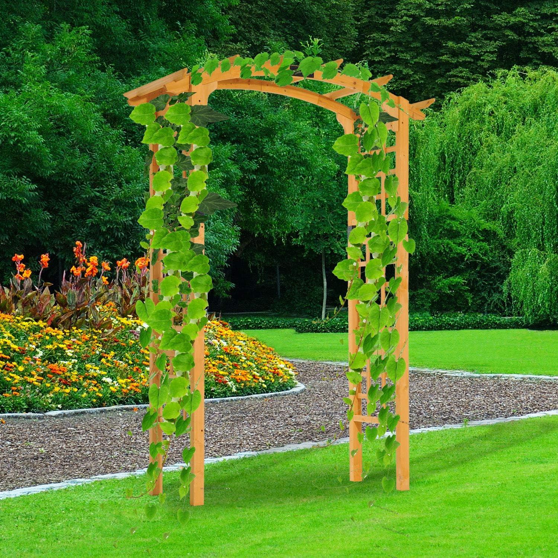 Festnight - Soporte de Madera para jardín o Patio al Aire Libre, Enrejado para Plantas trepadoras para Rosas, césped y jardín: Amazon.es: Jardín