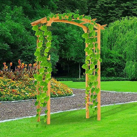 Festnight - Soporte de Madera para jardín o Patio al Aire Libre ...