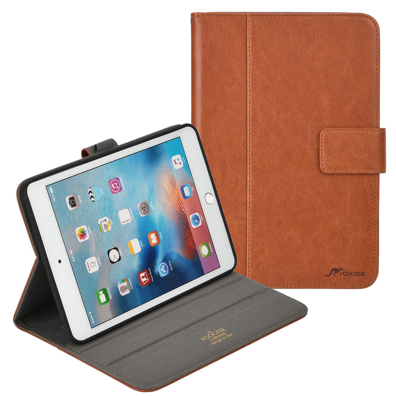 rooCASE iPad iPad Mini 4 ケース (ボーナスカラーマッチングクレジットカードホルダー) Apple ビュースタンド Pencilホルダー付き高級レザーフォリオケース ビュースタンド (2015) オートスリープ/ウェイク Apple iPad Mini 4 (2015) ブラウン B07J4Z97SR, FRANK 暮らしの道具:6d6063be --- awardsame.club