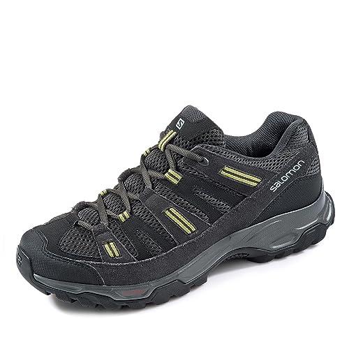 Salomon - Zapatillas de senderismo Sherbrooke para hombre, color negro, talla 9uk 43 1