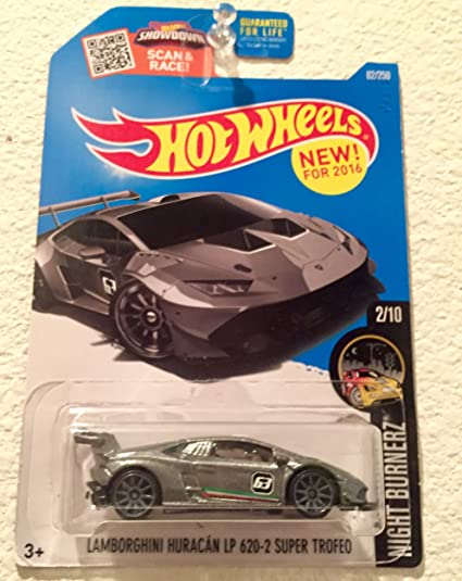 Hot Wheels 2016 Night Burnerz Lamborghini Huracan LP 620 2 Super Trofeo  82/250