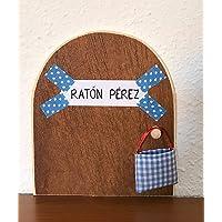 Ratoncito Pérez. La auténtica puerta mágica. Con una preciosa bolsita de tela azul para dejar el diente. El Ratoncito…