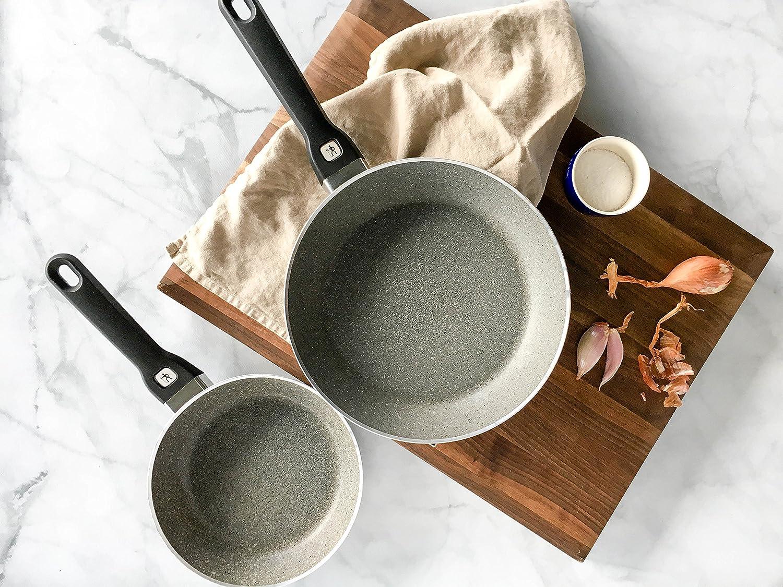 Henckels International Tuscany 2-pc 8-inch /& 10-inch Aluminum Nonstick Fry Pan Set Black J.A
