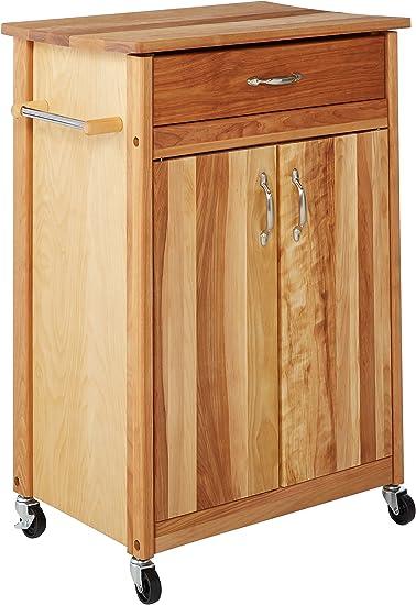 Catskill Craftsmen Butcher Block Cart with Flat Doors