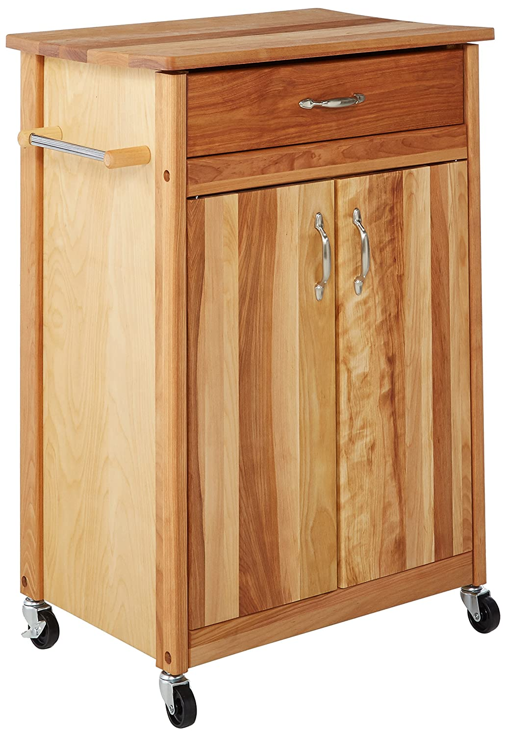 Incredible Catskill Craftsmen Butcher Block Cart With Flat Doors Pdpeps Interior Chair Design Pdpepsorg