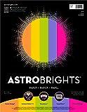 """AstrobrightsColor Paper, 8.5""""x11"""", 24lb/89 gsm,""""Joy"""" 5-Color Assortment, 500 sheets (91414)"""