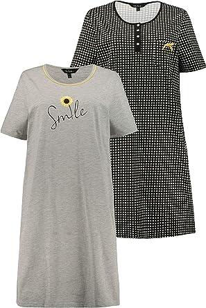 Ulla Popken Camisa de Noche para Mujer: Amazon.es: Ropa y accesorios
