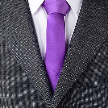DonDon corbata estrecha 5 cm - lila brillado: Amazon.es: Ropa y ...