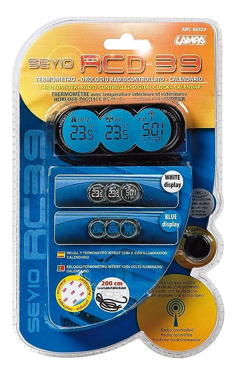 Amazon.com: seyio rcd-39 radio controlled clock Calendar / thermostat: Home Audio & Theater
