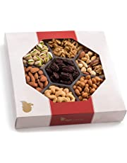 Father's Day Gift Basket, Extra-Large 7-Sectional Elegant Nuts Assortment, Gourmet Christmas Food Box Prime Gift, Great for Thanksgiving, Birthday, Holiday's, Father's Day, By Nut Cravings