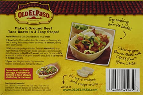 amazon com old el paso stuff n stand soft taco dinner kit 10 9oz box pack of 3 cell phones accessories