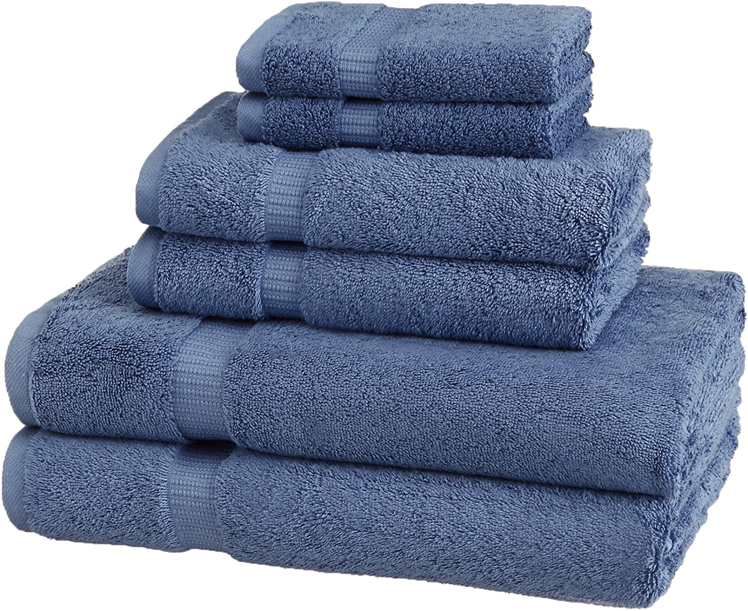 6 Piece Set Latte Tan Pinzon Organic Cotton Bathroom Towels