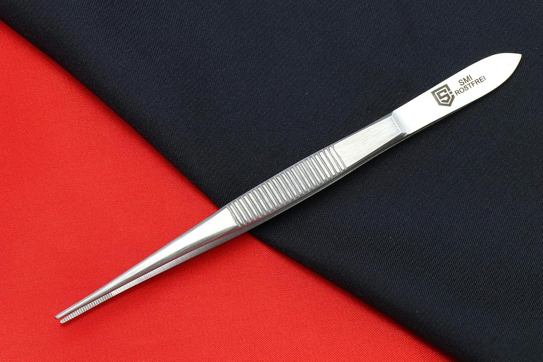 SMI 11,9cm Pinzas de precisi/ón pinzas para joyer/ía acero inoxidable de clase alta pinzas t/écnicas de punta fina Conjunto de 3 piezas