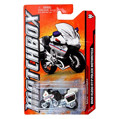 Mattel Year 2011 Matchbox MBX Highway Series 1:64 Scale Die Cast Vehicle #4 - BMW R1200 RT-P Police Motorcycle (W4891): Toys & Games