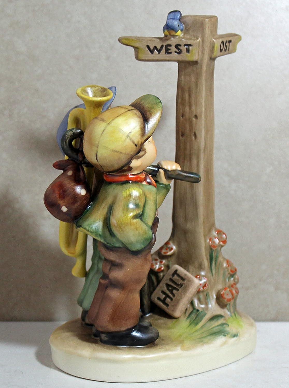 Hummel Figurine 331, Crossroads Halt sign down