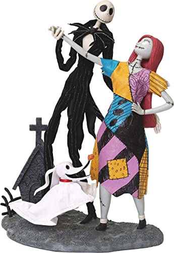 Department 56 Disney Nightmare Before Christmas Jack, Sally and Zero by Possible Dreams Figurine, 12.5 , Multicolor