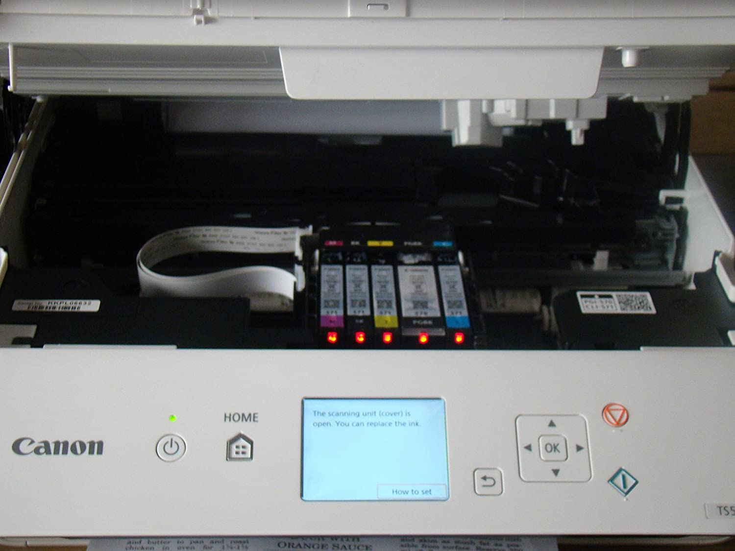 printing 216 x 297 mm - A4//Legal CANON 1367C028 PIXMA TS5051 Printers  Inkjet and Multifunction printer colour - up to 12.6 ipm USB 2.0 Wi-Fi - media original - 100 sheets ink-jet n