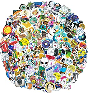 200PCS Cute VSCO Stickers, Mixed Colorful Waterproof Vinyl Stickers for Water Bottle Motorbikes Bicycle Skateboard Stickers Laptop Stickers, Computer Stickers for Teens Gifts Graffiti Decals