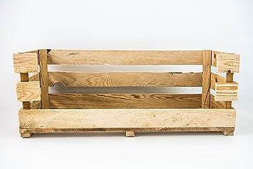 Caja Abierta Grande Natural Sam, Caja Grande con Apertura, Madera, Beige, 80X30.5X25.5 cm. Incluye Imán Personalizable de Regalo.: Amazon.es: Hogar