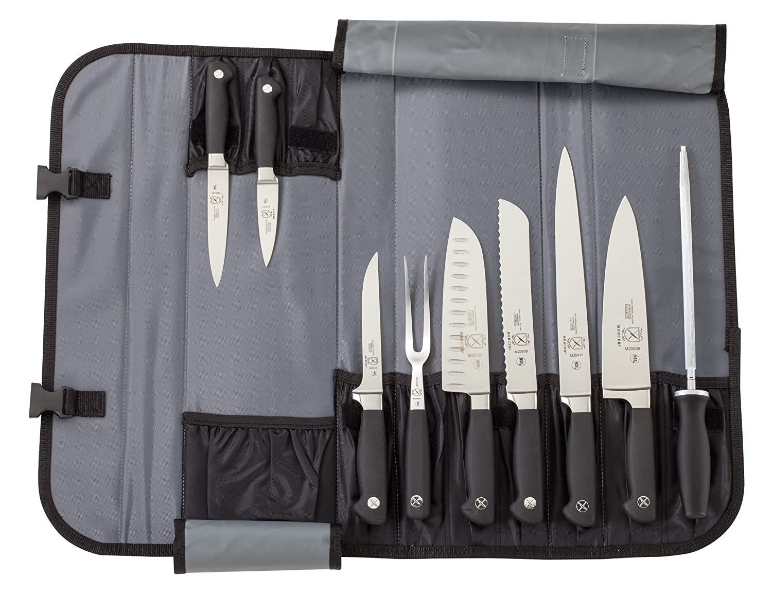 Mercer Culinary Genesis 10-Piece Forged Knife Set with Case