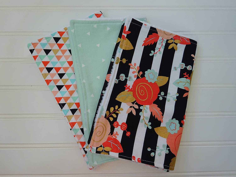 Floral Burp Cloth Set